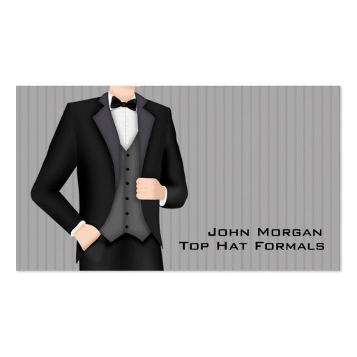 Men's Formal Wear Business Cards