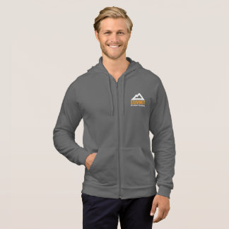 Men's Full Zip Hoodie with Logo on Back