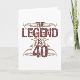 Mens Funny 40th Birthday Card