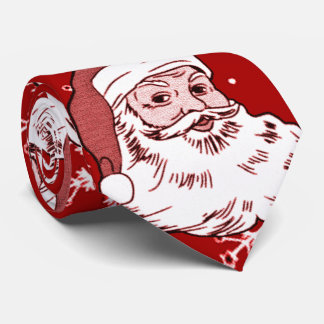 Men's Funny Loud Santa Red Christmas Tie
