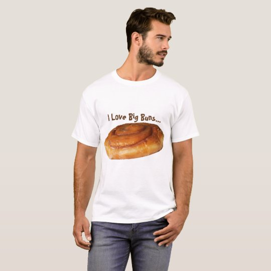 Mens Funny Tshirt I Love Big Buns