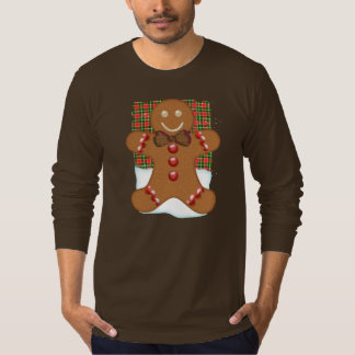 Men's Gingerbread Man Jumper With Plaid T-Shirt