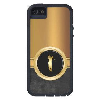 Men's Gold Business iPhone 5 Case