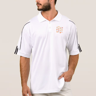 Men's golf polo T-shirt with pumpkins and leaves