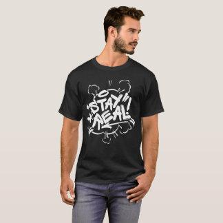 Mens Graffiti: Stay Real Black Hip Hop T-Shirt