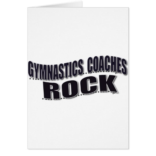 Mens Gymnastics Coach Gifts Card