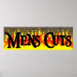 Mens Haircut Salon Poster
