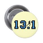 Mens half marathon pin