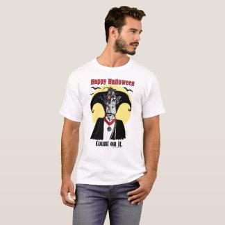 Men's Halloween gift tee, Count Dracula cartoon T-Shirt
