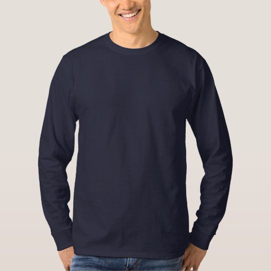 Men's Hanes Nano Long Sleeve T-Shirt Navy Blue