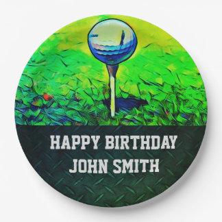 Men's Happy Birthday Golf Plates