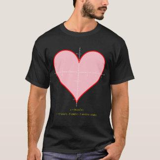 Men's heart equation dark shirt