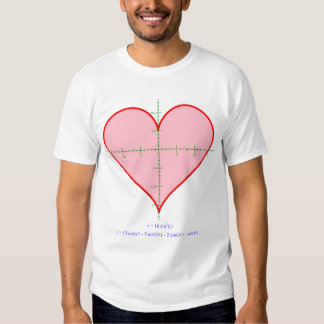 Men's heart equation shirt