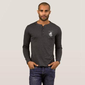 Men's Henley Long Sleeve Dark T-Shirt