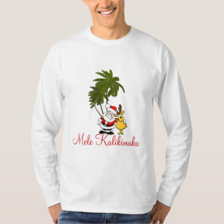 Mens Holiday Shirt-Mele Kalikimaka/Merry Christmas T-Shirt