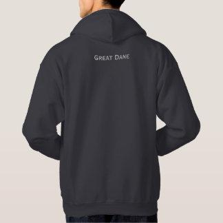 Mens Hooded Sweatshirt With Sugar Skull Great Dane