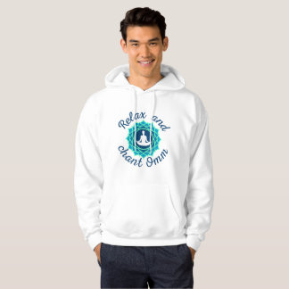 Men's Hoodie with Azure Mandala