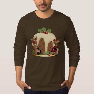 Men's Jumper Christmas Pudding And Reindeeer T-Shirt