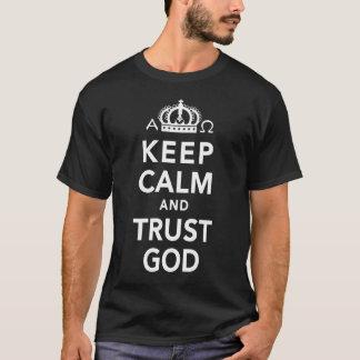 Mens Keep Calm And Trust God Christian Shirt