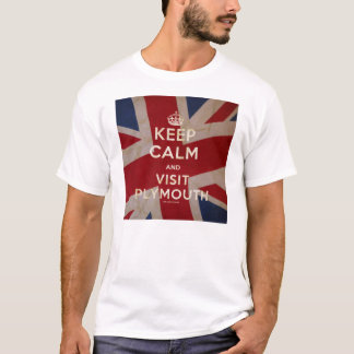 Mens 'Keep Calm and Visit Plymouth' Tee