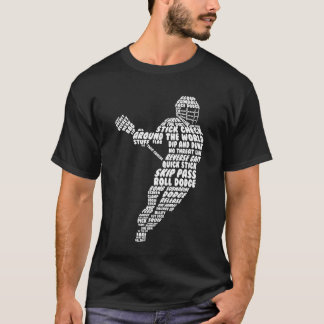 Men's Lacrosse Figure Funny Graphic T-shirt