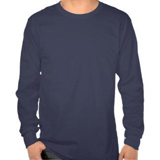 Mens Long Sleeve navy Tribal Blade T-Shirt front