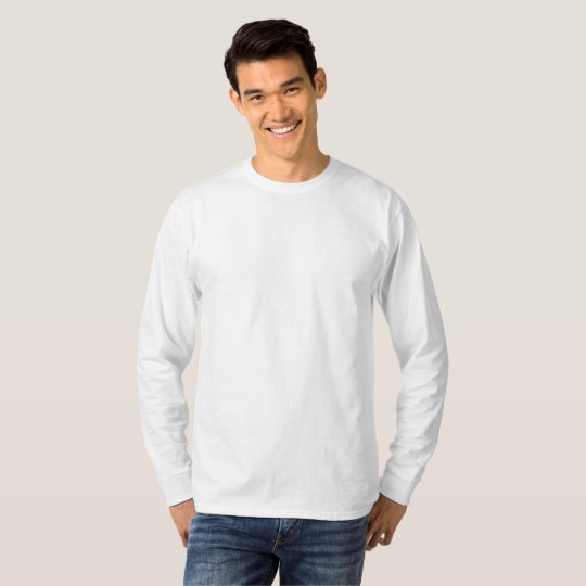 Men's Basic Long Sleeve T-Shirt, White