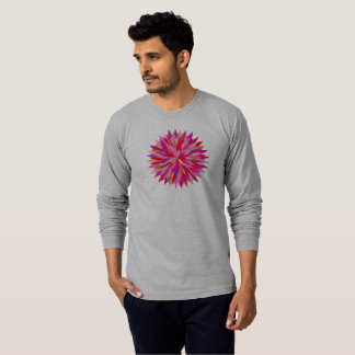 Mens long sleeve Tee with Red Riot mandala
