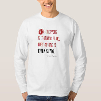 """Men's Long-Sleeve """"Thinking Quote"""" T-Shirt"""