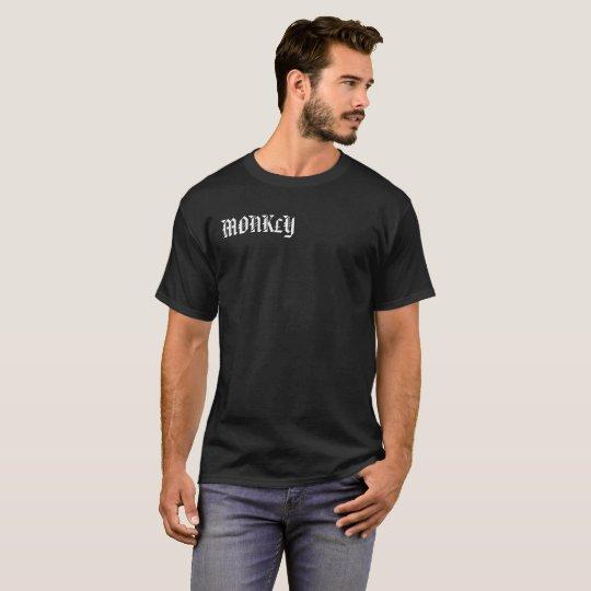mens lose fitting black MONK£Y shirt
