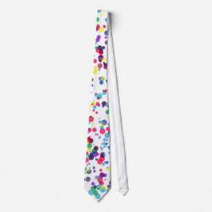 Men's Loud Spotty White Tie