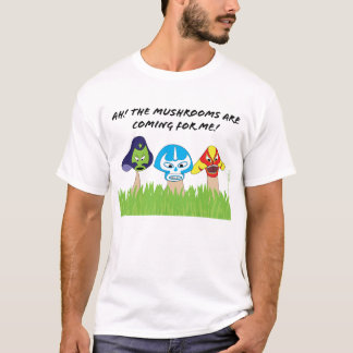 Mens-Luchador Mushrooms Shirt