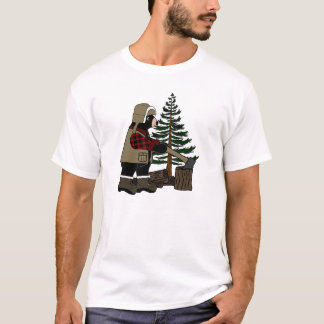 Men's Lumberjack Bear T-Shirt