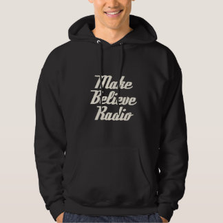 Men's Make Believe Radio Black Hooded Sweatshirt