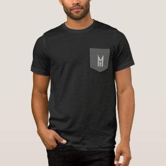 Men's Man In Me Cool Pocket T-Shirt (Black/Grey)
