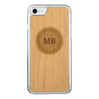 Men's Masculine Monogram Carved iPhone 8/7 Case