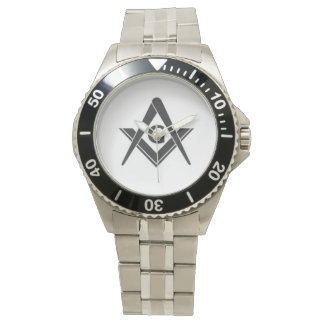 Men's Masonic Stainless Steel Watch