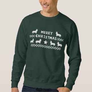 Men's Merry Christmas Corgi Jumper Sweatshirt