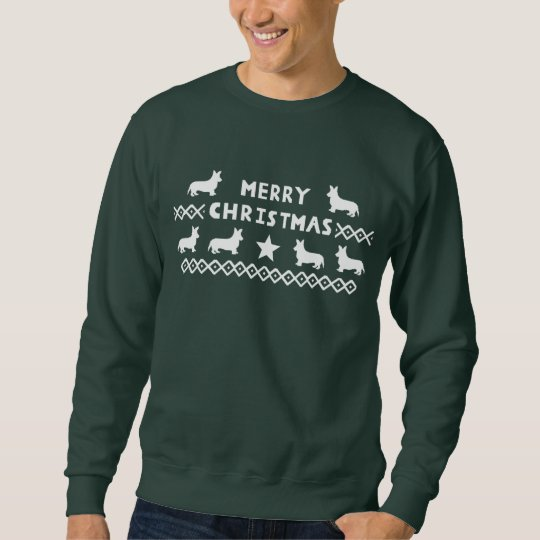 Men's Merry Christmas Corgi Jumper Sweatshirt
