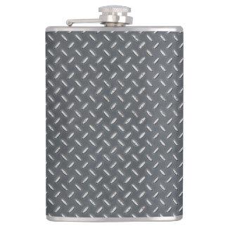 Men's Metal Look Diamond Plate Flasks