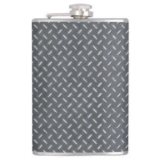 Men's Metal Look Diamond Plate Hip Flask