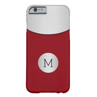 Mens Minimal Modern Monogramcity Barely There iPhone 6 Case