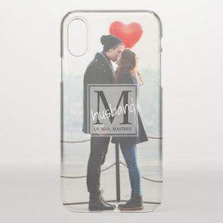 Men's Monogram Married Man's Wedding Photo iPhone X Case