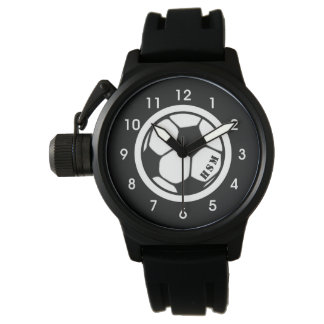 Men's Monogram Soccer Watch Black