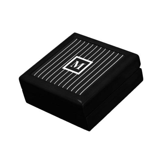 Mens Monogrammed Jewellery Boxes in Black