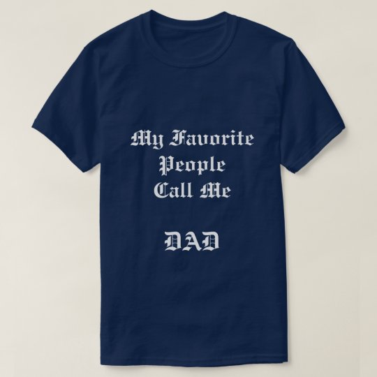 Men's My Favourite People navy blue t-shirt