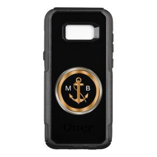 Mens Nautical Monogram OtterBox Commuter Samsung Galaxy S8+ Case