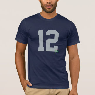 Men's Navy & Green 12th Man Jersey T-Shirt