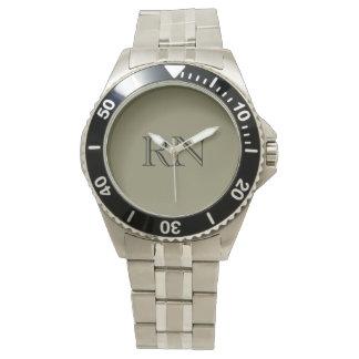 Men's Nurse stainless steel watch