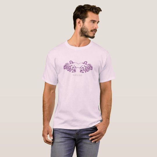 Men's Pale Pink Octopus and Chinese Design T